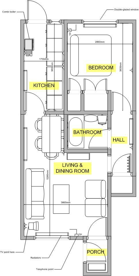 Property details for tenancy for Maisonette house plans